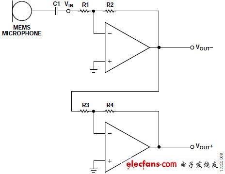 运算放大器和两个反相电路级(见图8)以简单的串联