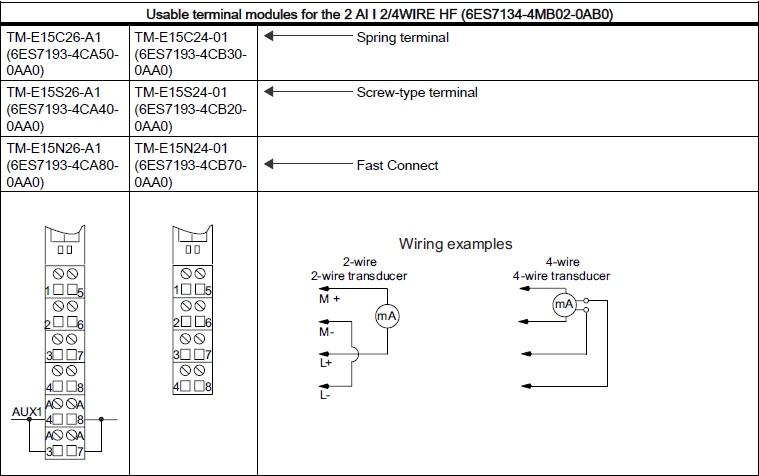 西门子et200s模拟输入模块接线问题