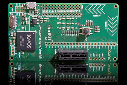 startkit还包含一个led指示灯阵列,一个按钮开关,两个电容式触摸感应