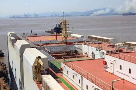 太阳能光伏系统实现装船示范应用