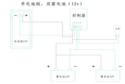 高杆灯安装说明之12v系统和24v系统接线图示